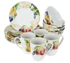 lenox garden mural 16 pc stoneware service for 4 dinnerware set