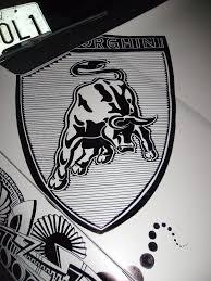 lamborghini logo black and white pinstripe chris july 2010