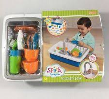 Play Kitchen Sink by Spark Kitchen Sink Create Imagine Kids Play Toy Real Working Water