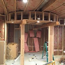 man turns basement into diy aviator bar