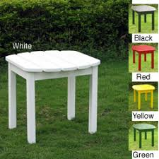 white patio side table patio side table finished oak wood construction black wrought