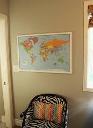 diy framed map corkboard bulletin