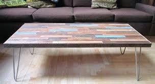 hairpin leg coffee table round hairpin leg coffee table reclaimed coffee table on hairpin legs