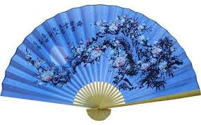 asian fan wall fans decorative soft blue poem asian wall fan asian home