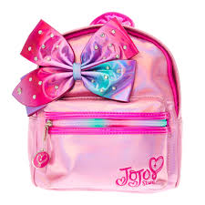 bags of bows jojo siwa pink shimmer bedazzled bow mini backpack s