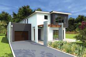 modern white and grey interlocking building block home designs can
