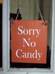 halloween sorry no candy wood vinyl sign home decor wreath sign