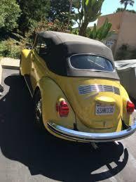 Vw Beetle Classic Interior Volkswagen Beetle Classic Convertible 1972 Yellow Black Top For
