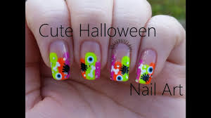 nail tutorial cute u0026 simple halloween nail art stephyclaws