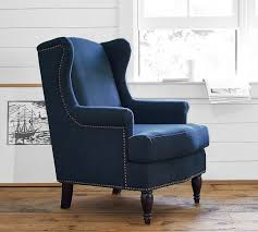 Upholstered Armchair Soma Delancey Wingback Upholstered Armchair Pottery Barn