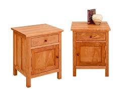 Natural Cherry Bedroom Furniture by Craftsman Nightstands Hardwood Artisans Handcrafted Bedroom