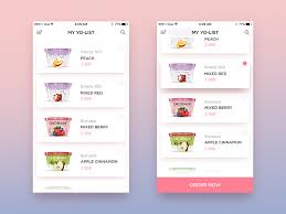 wish list app yogurt wishlist my yo list by dux nguyen dribbble