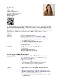 French Resume Example by Cv Mathilde Petit Resume