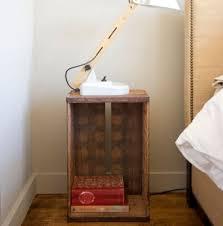 Wooden Crate Nightstand 60 Diy Bedroom Nightstand Ideas Ultimate Home Ideas