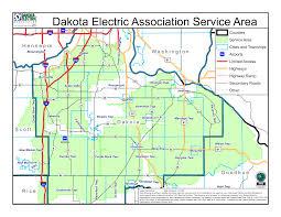 Green Line Map Service Area Map Dakota Electric Association