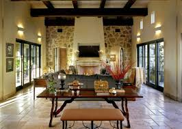 house design travertine tile floor with rustic table and living inspiring interior lighting ideas with wall sconce travertine tile floor with rustic table and living