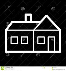 House Simple Simple House Outline Stock Illustration Image 54314989