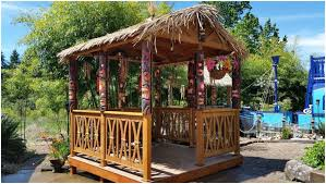 Tiki Backyard Designs by Backyards Cool Tropical Thatch Umbrella Cover 42 Tiki Hut Patio