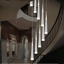 led rain drop lights long spiral chandelier indoor staircase