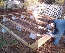 how to build a deck using handi blocks how to