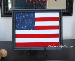 How To Sew A Flag 4th Of July Craft Framed Flag