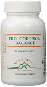 amazon com pro cortisol balance 60 chewable tablets by nutri