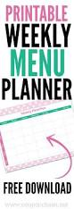 weekly family meal planner template free meal planning chart printable coupon closet do you think this online menu planner template will help you with you plan your meals