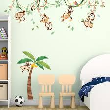 monkeys on vine wall stickers monkeys on vine nursery wall stickers