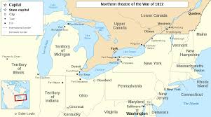 State Capitol Map by War Of 1812 Campaigns Wikipedia