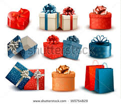 boxes with bows set colorful gift boxes bows ribbons stock vector 121813468