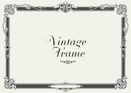 vintage ornament border decorative floral frame vector stock