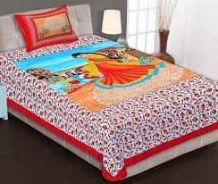 bed king size bed sheet with 2 pillow covers at rs 550