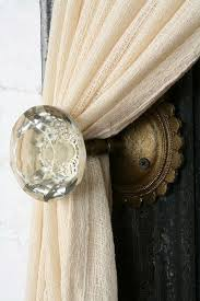 Small Curtain Tie Back Hooks Awesome Ideas For Diy Curtain Tiebacks Including A Shabby Chic