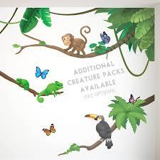 jungle monkey children s wall sticker set by oakdene designs jungle monkey children s wall sticker set