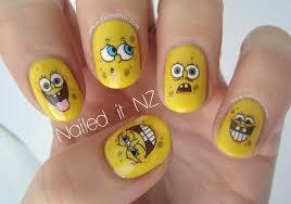 spongebob squarepants nails