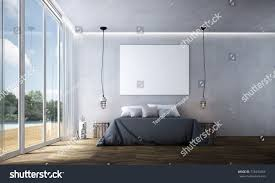Minimal Bedroom Interior Design Minimal Bedroom Concrete Texture Stock