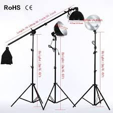 Photography Lighting Kit 3 Product Photography Fluorescent Lamp Lighting Kit With 2 200cm