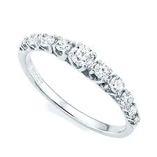half eternity ring berry s 18ct white gold claw set graduating diamond half eternity ring