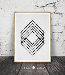 modern minimal wall art black and white print abstract art