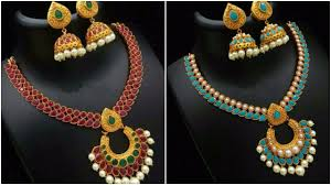 stone necklace designs images Awesome stone necklace set designs jpg
