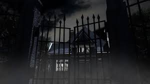 halloween haunted house background images 1920x1080 scary haunted house and opening iron gate 3d animation motion