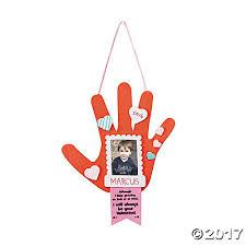 handprint picture frame ornament craft kit