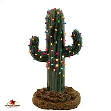 saguaro cactus ceramic christmas tree 12 inches tall with color