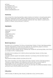 Salesperson Resume Example by Professional Wine Sales Representative Templates To Showcase Your