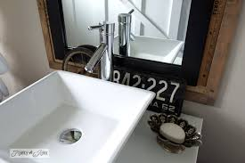 Salvage Bathroom Vanity by Salvaged Farmhouse Bathroom Makeover With Vintage Trimfunky Junk