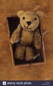 Wooden Faced Teddy Bears Stained Hessian Teddy Bear With Smiling Face Sitting In Small