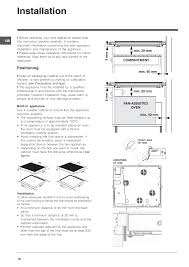 installation positioning indesit vrm640mc user manual page 18