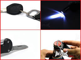 lexus accessories keychains metallica logo keyring pocket knife led torch bottle opener