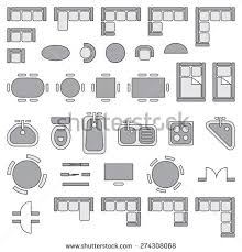 free architectural plans standard furniture symbols used architecture plans stock vector hd