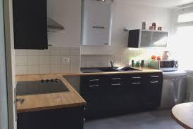 plan de travail cuisine noir cuisine noir plan de travail bois hostelo